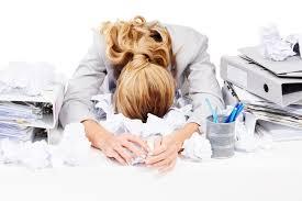Stress woman at work